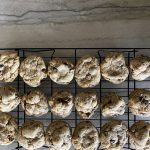 salted toffee chocolate chip cookies